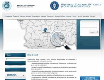 Main page screenshot of isj.tm.edu.ro