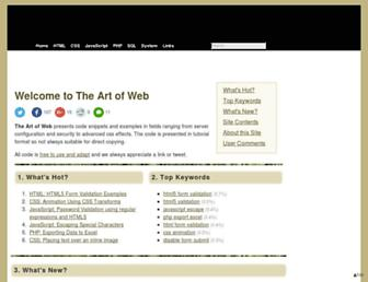 the-art-of-web.com screenshot