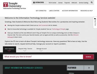 its.temple.edu screenshot