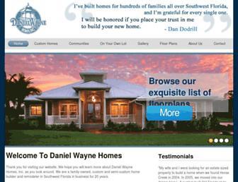 danielwaynehomes.com screenshot