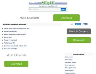 mp3hi.com screenshot
