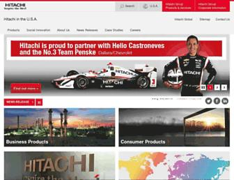 Main page screenshot of hitachi.us