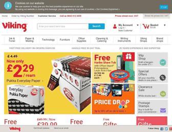Main page screenshot of viking-direct.co.uk