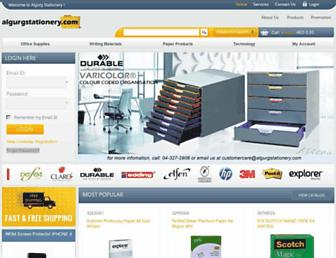 algurgstationery.com screenshot