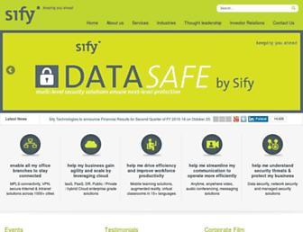 Thumbshot of Sifycorp.com