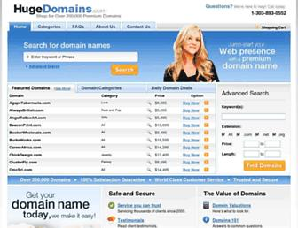 Thumbshot of Hugedomains.com