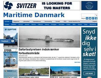 Main page screenshot of maritimedanmark.dk