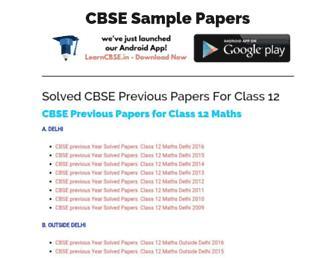 cbsesamplepapers.info screenshot