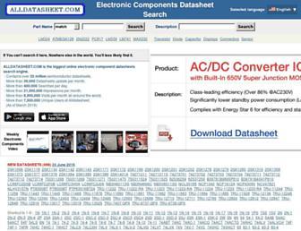 alldatasheet.com screenshot