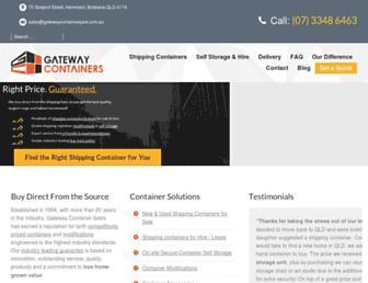 gatewaycontainersales.com.au screenshot