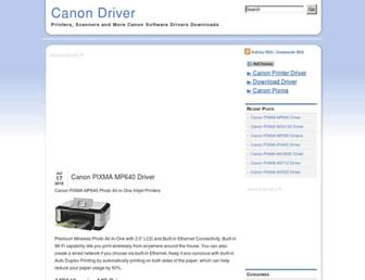 canondriver.net screenshot