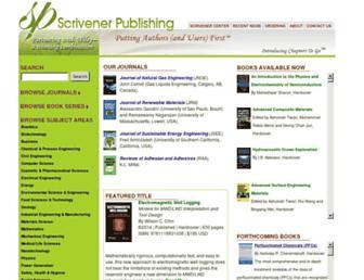 scrivenerpublishing.com screenshot
