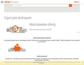 archiwum.allegro.pl screenshot