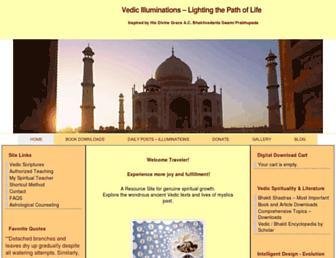vedicilluminations.com screenshot