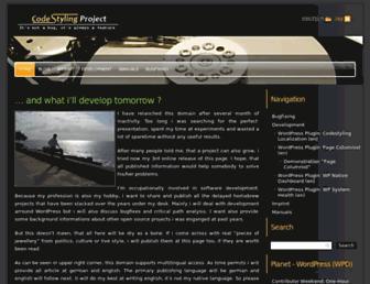 Main page screenshot of code-styling.de