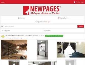 m.newpages.com.my screenshot