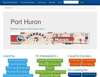 porthuron.org screenshot