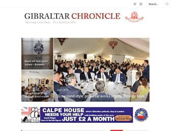 Main page screenshot of chronicle.gi