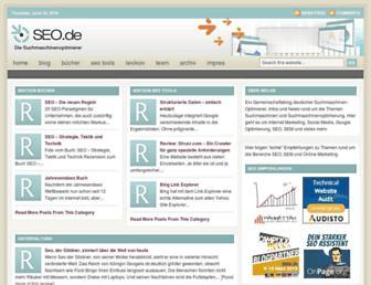 Main page screenshot of seo.de