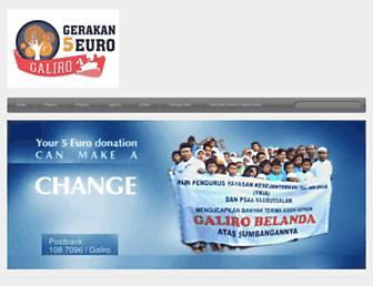 Main page screenshot of galiro.degromiest.nl