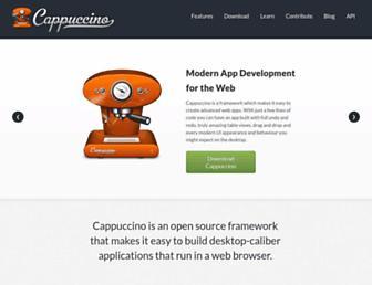 Main page screenshot of cappuccino.org