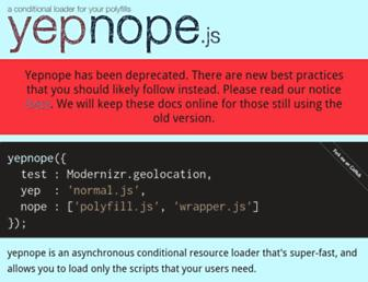 Screenshot for yepnopejs.com