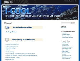 Main page screenshot of i-cool.org