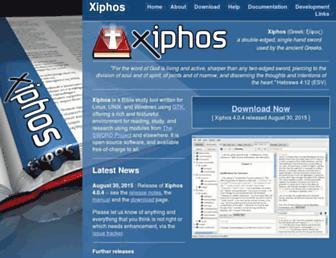 Main page screenshot of xiphos.org