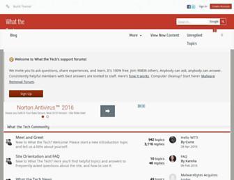 forums.whatthetech.com screenshot