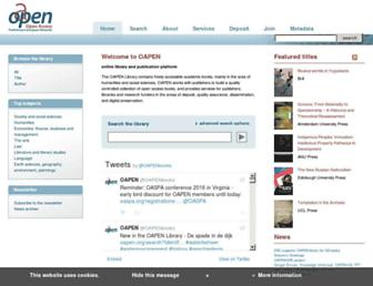 oapen.org screenshot