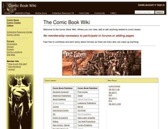 comicbooks.wikidot.com screenshot