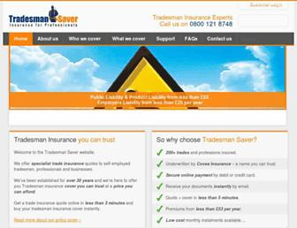 tradesmansaver.co.uk screenshot