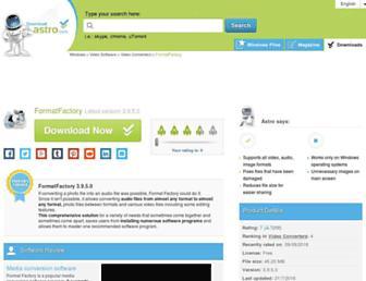 formatfactory.en.downloadastro.com screenshot