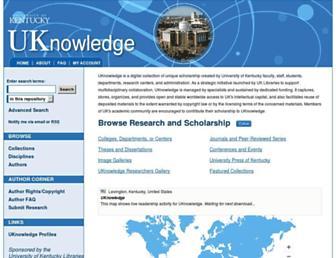 uknowledge.uky.edu screenshot