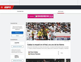 espn.com.co screenshot