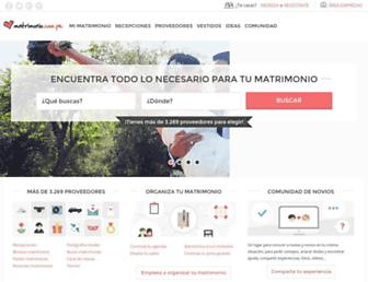 matrimonio.com.pe screenshot