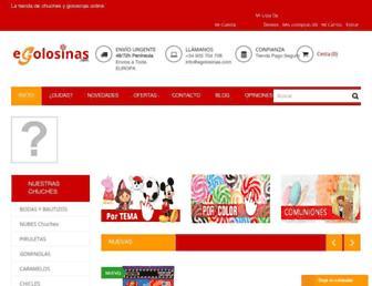 egolosinas.com screenshot