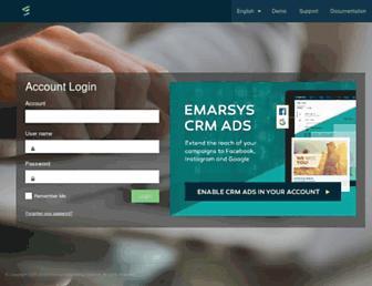 Main page screenshot of emarsys.net