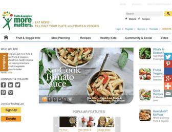 Fullscreen thumbnail of fruitsandveggiesmorematters.org