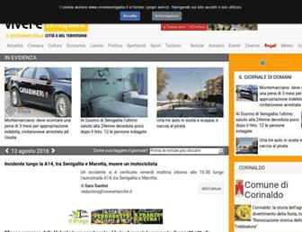 Main page screenshot of viveresenigallia.it