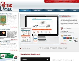 Main page screenshot of fscdesign.ro