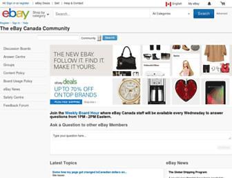 community.ebay.ca screenshot