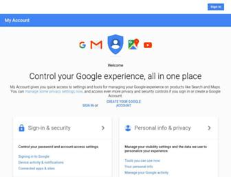 myaccount.google.com screenshot