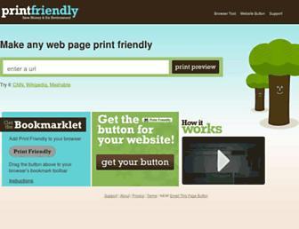 Thumbshot of Printfriendly.com