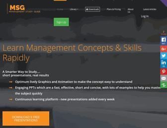 managementstudyguide.com screenshot