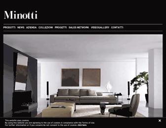 Main page screenshot of minotti.it