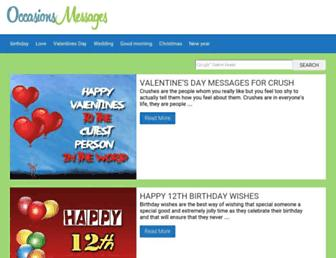occasionsmessages.com screenshot