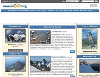 Main page screenshot of summitpost.org