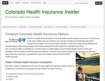 healthinsurancecolorado.net screenshot