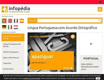 infopedia.pt screenshot